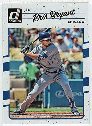 Kris Bryant Baseball Card 2017 Panini Donruss 68 Mint product image