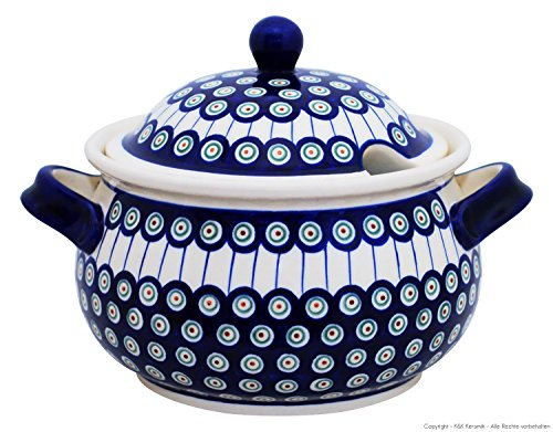 Original Bunzlauer Keramik Suppenterrine 4.5 Liter im Dekor 8