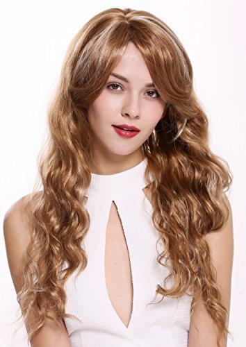 WIG ME UP - DW-1649-27BH613 Perruque dame très longue ondulée très chic blond platine mèches