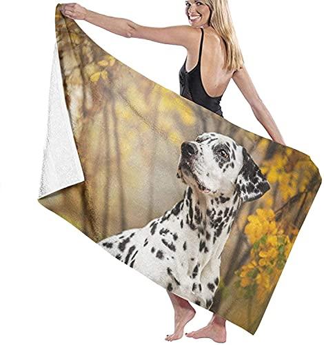 Dalmatian-Wallpapers-Full-Hd-49051 Toallas de Playa Toallas de Piscina de SPA súper absorbentes de Secado rápido para Nadar y al Aire Libre 80x130cm