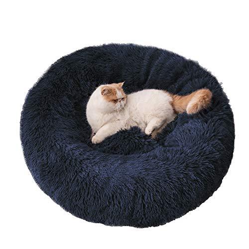 BEDELITE 猫 ベッド 犬 ベッド 犬用ベッド クッション ペットソファー ペット用品 猫ケージ 猫ハウス 猫 クッション ペット マット ふわふわ 柔らかい 丸洗い ベット ネイビー 50*50cm 小型犬 チワワ トイプードル 柴犬 フレンチブル