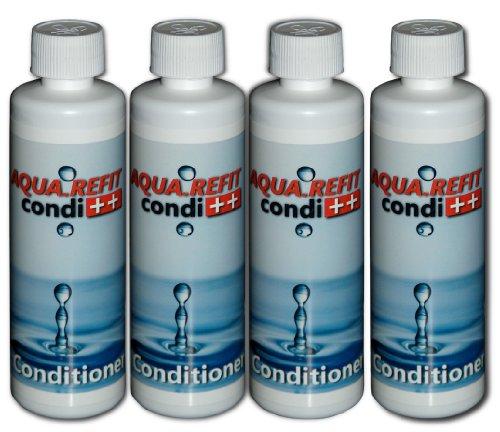 4X große Flaschen AQUA REFIT Conditioner Konditioner Flüssigkonzentrat zur regelmäßigen Behandlung von Wasserbetten Wasserkernen Wassersäcken
