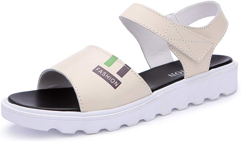 JOYBI Women's Casual Sandals Platform Non-Slip Thick Rubber Sole Hook Loop Soft Cushion Summer Beach Sandals