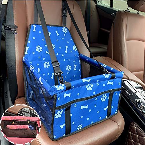 Hond Autostoel Voor Honden, Achterbank En Voorstoel Hond Zitting Draagbare Autostoel Mean Met Ritsvak Voor Kleine Honden,Blue,C