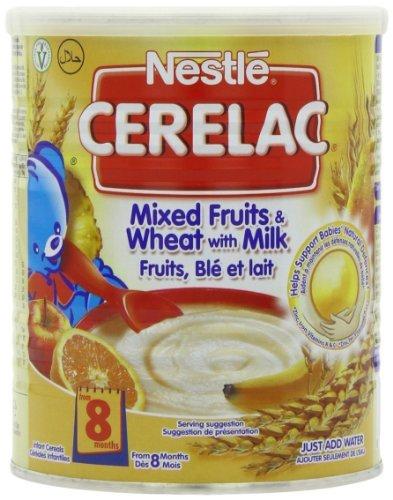 Nestle Cerelac, Gemengd Fruit & Tarwe met Melk, 14.1 Ounce Cans (Pack van 4) (Baby/Babe/Baby - Kleine)