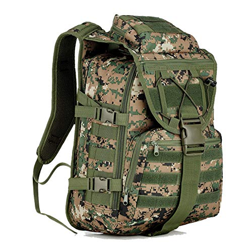 WYN123 Travel Backpack Hiking Rucksack Camping BackpackingTactical assault backpack outdoor army camouflage camping mountaineering travel computer backpack, C