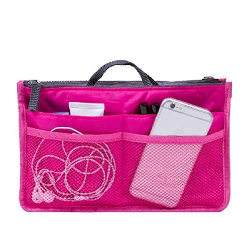 Corée Cosmetic Bag_Korea Travel Cosmetic Bag Sac À Main Multifunctional Bag Travel Nylon Wholesale Customization, Rose Red, Large