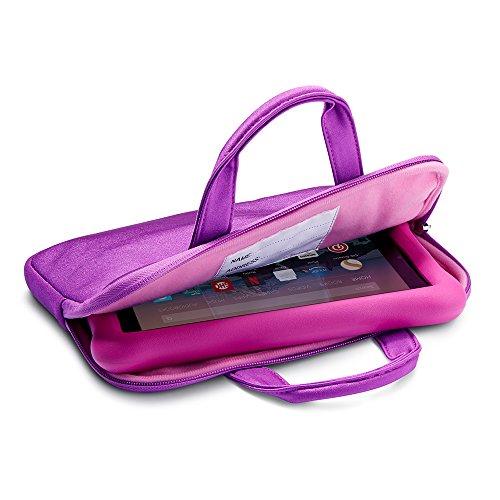 NuPro Hülle mit Reißverschluss für das Fire HD 8 Kids Edition-Tablet, violett/rosa