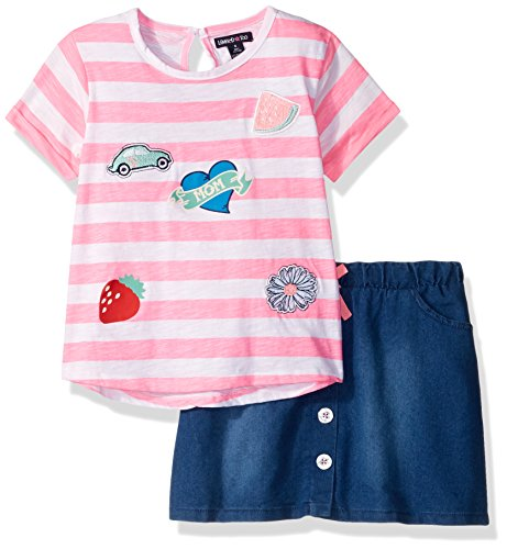 Limited Too Girls' Big Fashion Top and Skort Set (More Styles Available), Neon Light Pink KZ75, 10