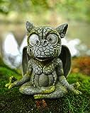 Udo Schmidt GmbH & Co. Figura solar de dragón de jardín con ojos solares LED, 17 cm, figura de dragón, figura de jardín, suerte