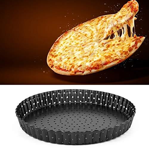 Changor Bandeja de Hornear de Pizza, Acero Altamente Carbono y Recubrimiento sin Pintado Calidad de Carbono Resistencia a la Temperatura Pizza de la Pizza Ronda
