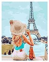 数字油絵 カンバスの描画カンバスの絵の描画手塗装絵画アートギフトDIY写真 - ナンバーランドスケープキット家の装飾 (Color : SZHC7240, Size(cm) : 40x50cm No Frame)