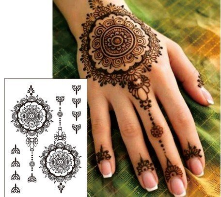 Orient, Henna Design - Temporäres Fake Tattoo black88