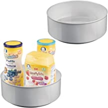 mDesign Plastic Spinning Lazy Susan Turntable Storage Organizer for Kids, Baby/Toddler - Place in Kitchen Cabinet, Pantry, Refrigerator, Countertop - BPA Free & Food Safe - 9