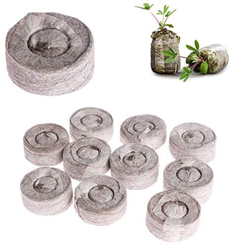 Original Quell-Tabletten 30 mm Torf,Aussaaterde Anzuchterde Torftablette Kokos-Quelltabletten,Anzucht Quelltabletten zur torfquelltöpfe Bonsai anzucht (100 Stück)