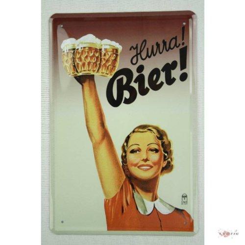 Hurra Bier Blechschild Gewölbt Neu 20x30cm VS2771A