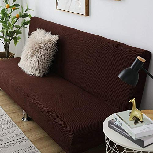 B/H Muebles Elegante Sofa Cubre,Funda de sofá de Tela Gruesa, Funda de sofá Universal Simple-Café A_191-210cm,Fundas de sofá de Esquina
