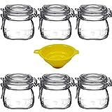 Viva-artículos de Uso doméstico - 6 Cierre-Vasos/se Puede emplear como dosis/Cristal para 0,5 litro con Embudo