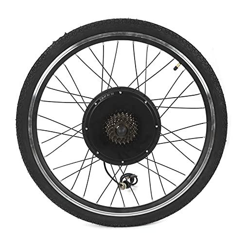 Kit de conversión de bicicleta eléctrica, motor de cubo de rueda trasera, palanca de freno de neumático de nylon con medidor LCD de 26 pulgadas(1000W)