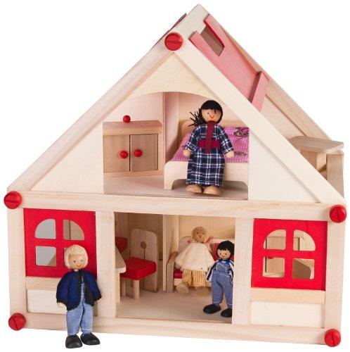 Globo Toys 35686 39 x 36.5 x 25 cm Legnoland Maison en Bois avec Deux étages (35)