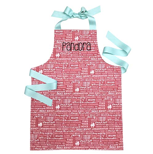 Personalized Encouraging Words Handmade Baking or Art Apron Gift for Tween Girl