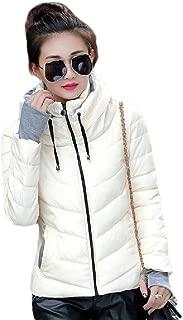 Howely Women's Warm Zipper Closure Fitness Solid Hooded Winter Jacket Coat