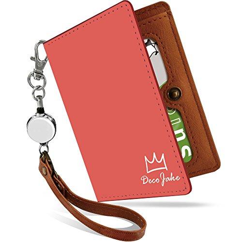 パスケース リール付き キング 赤 ロゴ シンプル ワンポイント 二つ折り 定期入れ 2枚 3枚 4枚 カードケース カード入れ 王冠柄 王冠 [キング 赤/ps]