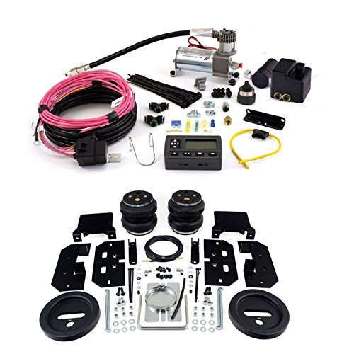 Air Lift 57595 72000 Rear Set of Load Lifter 7500XL Series Air Springs with Wireless AIR Dual Path On-Board Air Compressor System Bundle for Dodge Ram 1500