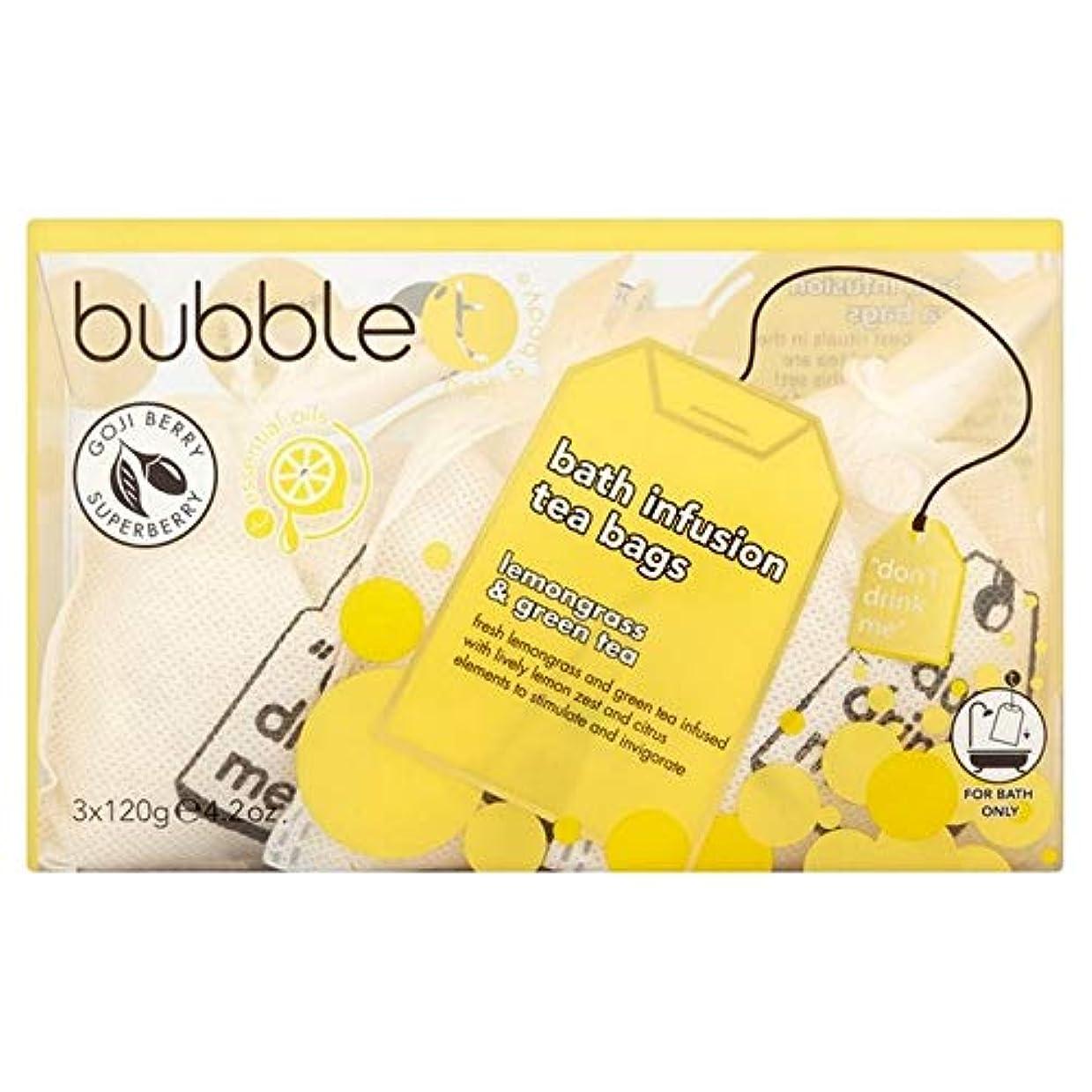 小学生スラックかどうか[BUBBLE T] バブルトンのレモングラス&緑茶風呂輸液トンバッグ - Bubble T Lemongrass & Green Tea Bath Infusion T-Bags [並行輸入品]