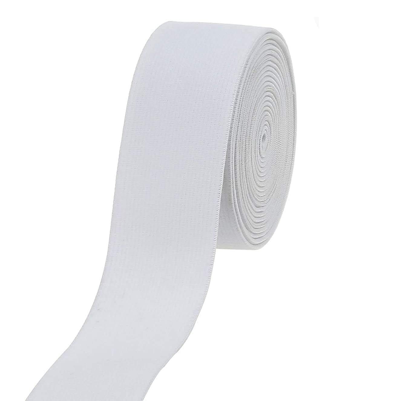 Cotowin 1.5-inch White Plush Elastic,Soft Comfortable Sewing Elastic - 3 Yards