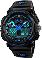 SKMEI Analogue - Digital Black Dial Men's & Boys' Watch