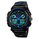 SKMEI Sports Analog-Digital Blue Dial Men's Watch - SkmeiMW56A