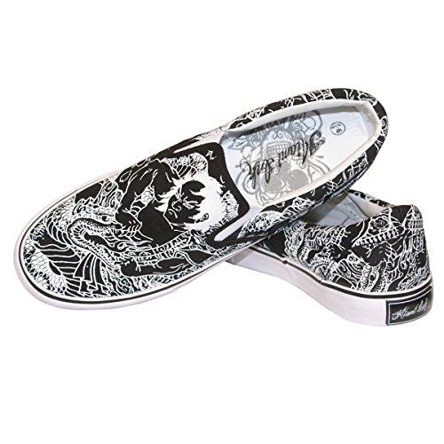 Black Slip on Chaussures XL B
