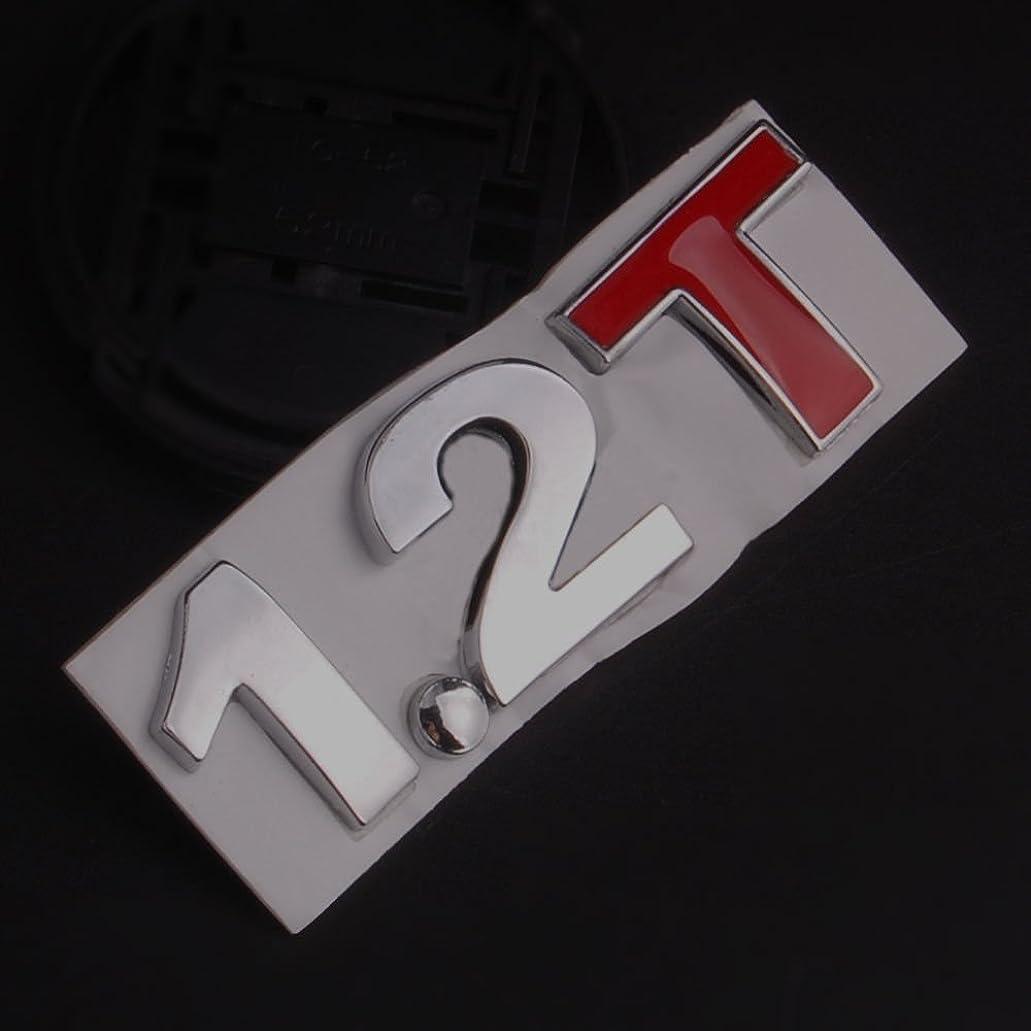 混乱治す横向きJicorzo - Metal 1.2T Badge Turbo 2.1T 1.2 T Decal Sticker Car Rear Trunk Emblem Side Stickers Fit For Universal Car