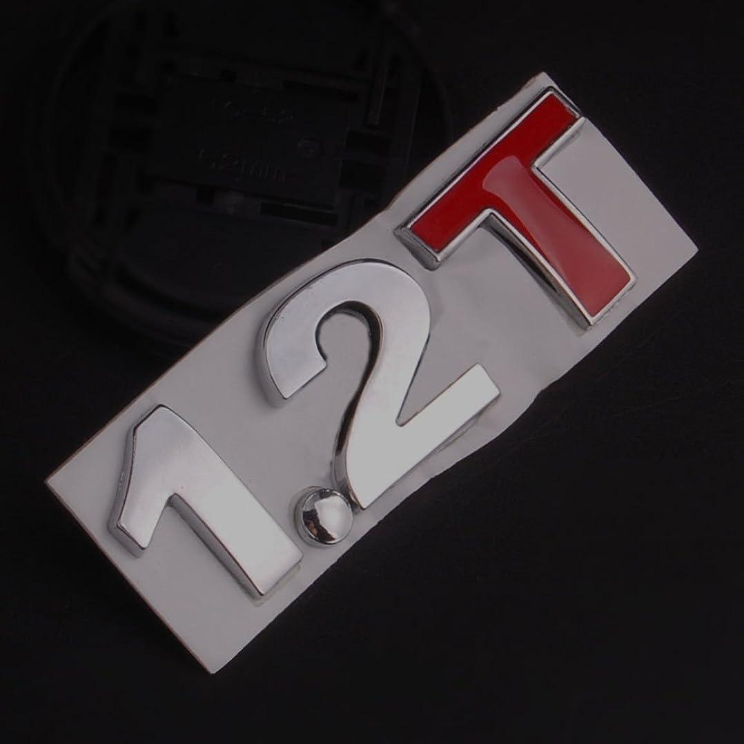 バウンド収縮速いJicorzo - Metal 1.2T Badge Turbo 2.1T 1.2 T Decal Sticker Car Rear Trunk Emblem Side Stickers Fit For Universal Car