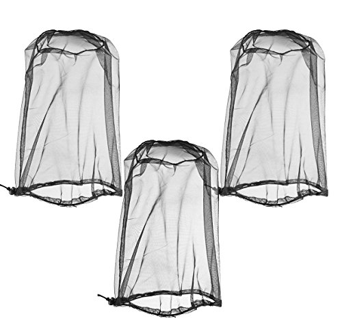 Mosquito Net for Head, Durable Net Mesh, Great for Outdoor Activities, 3-Pack (Head Nets - 3 Pack)