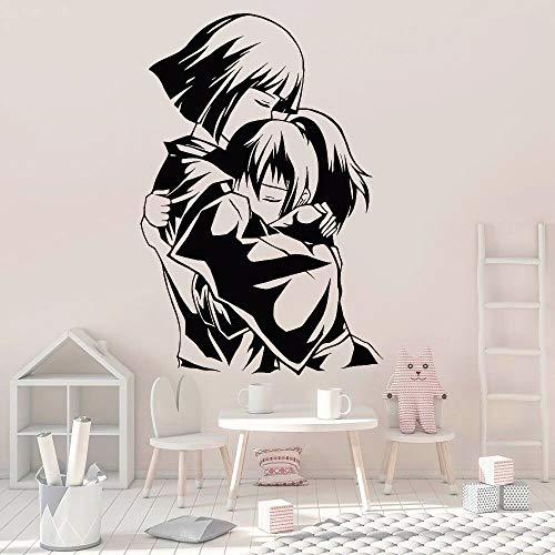 Anime calcomanías de vinilo para pared pegatinas de personajes de dibujos animados puertas y ventanas habitación de los niños dormitorio decoración papel tapiz