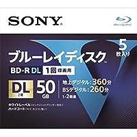 ソニー ブルーレイディスク BD DL 4倍速 1回録画用 50GB R_2層5P