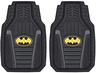 Superhero Car Floor Mats, Officially Licensed Warner Bros DC Comics, All Weather Interior Auto Protection, Heavy Duty Rubb...