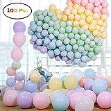 GRESAHOM Luftballons Pastell, 100 Stücke Latex Bunt Macaron Luftballons Farbige Ballons für Party Dekorative Ballons, Geburtstag Hochzeit Engagement