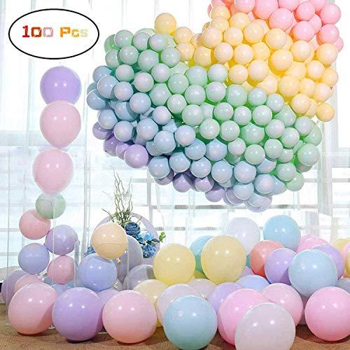 100 Pezzi palloncini pastello, 10 Pollici Palloncini Macaron Compleanno Colore Palloncini in Lattice Palloncini Colorati per Decorazioni per Feste