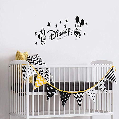 Mickey Mouse Sticker Mural Decal Bricolage Kawaii Créatif pour Enfants Chambres Minnie Mickey Mouse Amovible Stickers Muraux, Décoration de La Maison