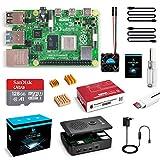 LABISTAS Raspberry Pi 4 8GB Kit Incluido Tarjeta SD 128GB Precargada con Raspberry Pi OS, Ventilador, 3 Disipadores de Calor, 5.1V 3A Cargador con ON/Off, 2 Micro HDMI, Caja y Lector de Tarjetas