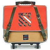 Cartable à roulettes IKKS 41 cm'Army' - orange