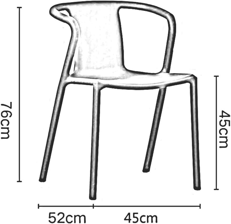 Ensemble De 2 Chaise De Salle à Manger en Plastique Style Nordique Chaise De Table Empilable Meubles De Mode Chaise De Café De Loisirs Moderne(Color:Jaune) Orange