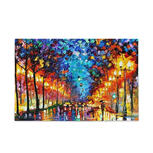 Puzzle Adult 1000 Piece, Colorful Street DIY Adult Kids Puzzles, Fun and Challenging Family Puzzle, Multicolor