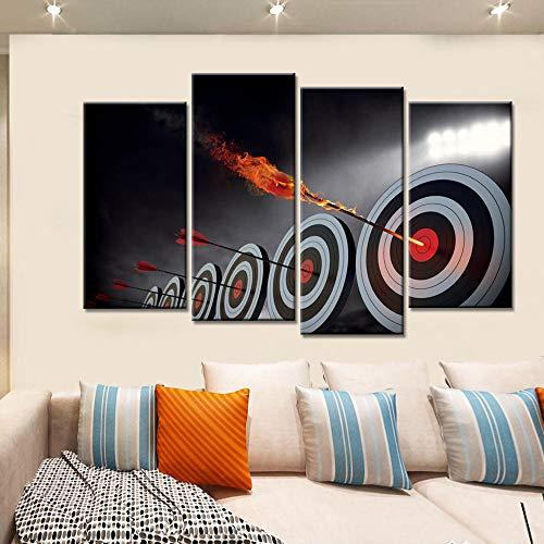 4 Unidades Llama Abstracta Tiro con Arco Cartel de Arte de La Pared Moderna Decoración para el hogar Sala de Estar Impresión de la Lona Pintura Modular Pictures Sin marco