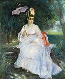 Pierre-Auguste Renoir - Mujer En La Sombra Sentada En El Jardín Reproducción Cuadro sobre Lienzo Enr...