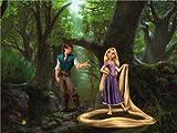 AG Design FTDXXL 0244  Rapunzel Disney Princess, Papier Fototapete Kinderzimmer- 360x255 cm - 4 teile, Papier, multicolor, 0,1 x 360 x 255 cm