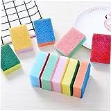 10pcs / Set Plato de Hogares de Lavado de Limpieza Esponjas de Color Esponja estropajos de Cocina Esponjas Cleaner Tool Color al Azar